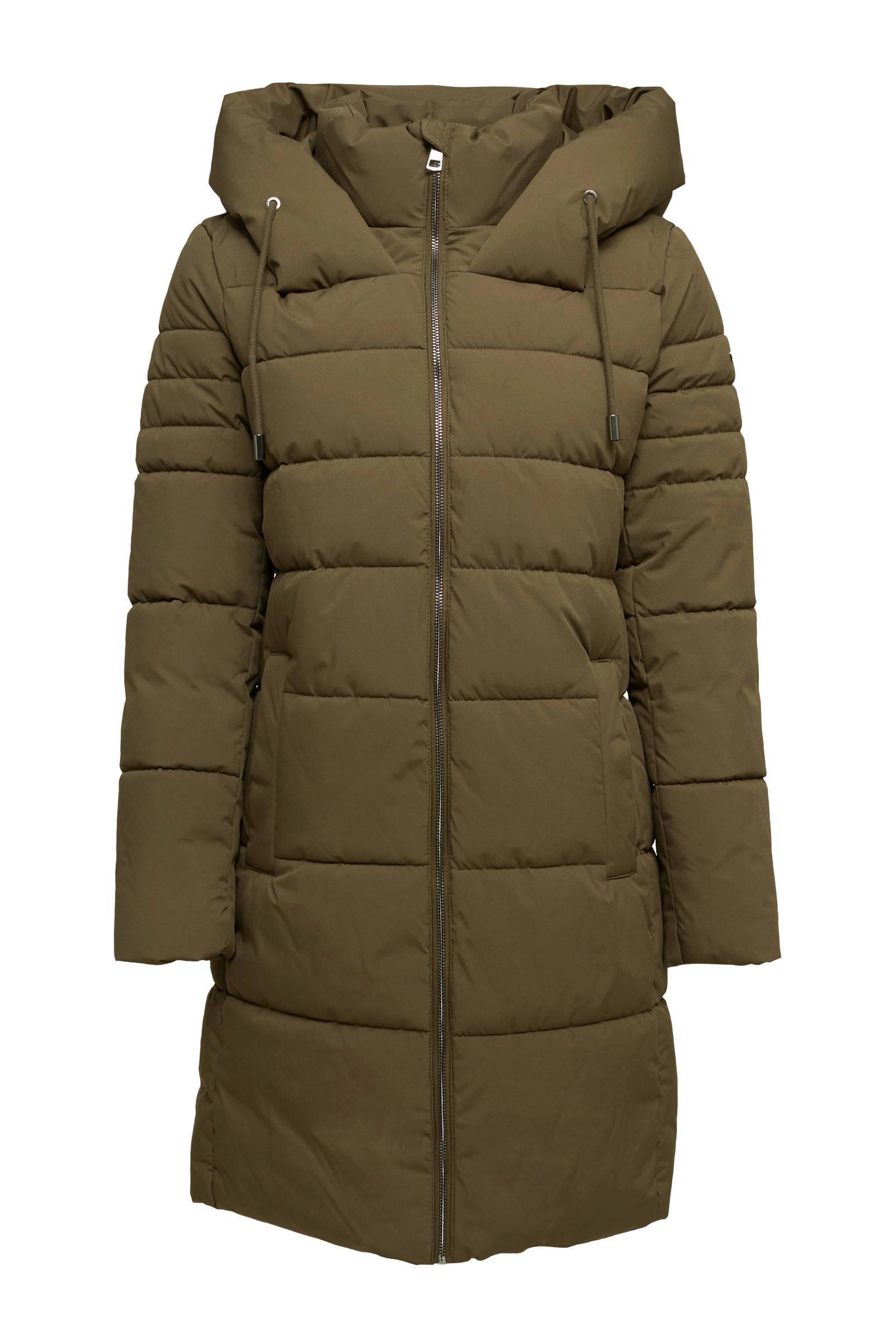 ESPRIT Women Casual gewatteerde jas van gerecycled polyester