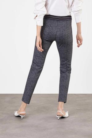 geruite slim fit broek Easy Smart black check