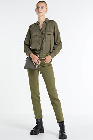 slim fit broek Dream moss green ppt