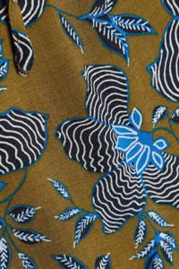 ESPRIT Women Casual blouse met all over print olijfgroen/blauw/zwart, Olijfgroen/blauw/zwart