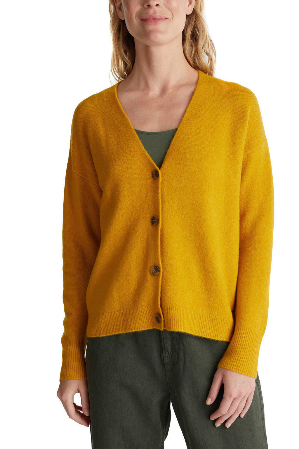 ESPRIT Women Casual vest okergeel/bruin, Okergeel/bruin