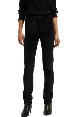 corduroy slim fit broek zwart