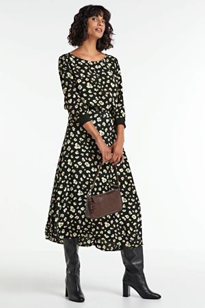 rok met all over print zwart/groen