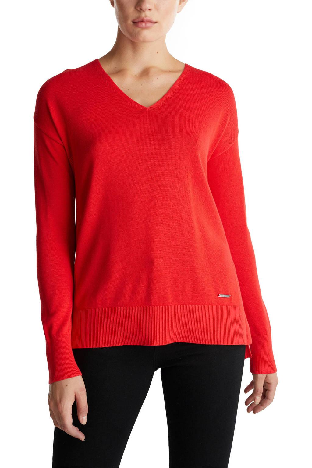 ESPRIT Women Casual trui met biologisch katoen rood, Rood