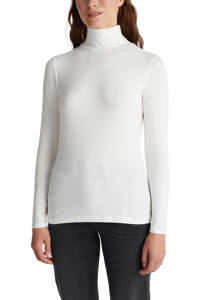 ESPRIT Women Casual top met col wit, Wit