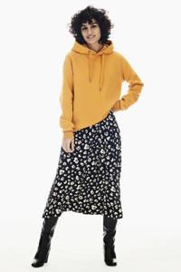 Garcia hoodie met glitters okergeel, Okergeel