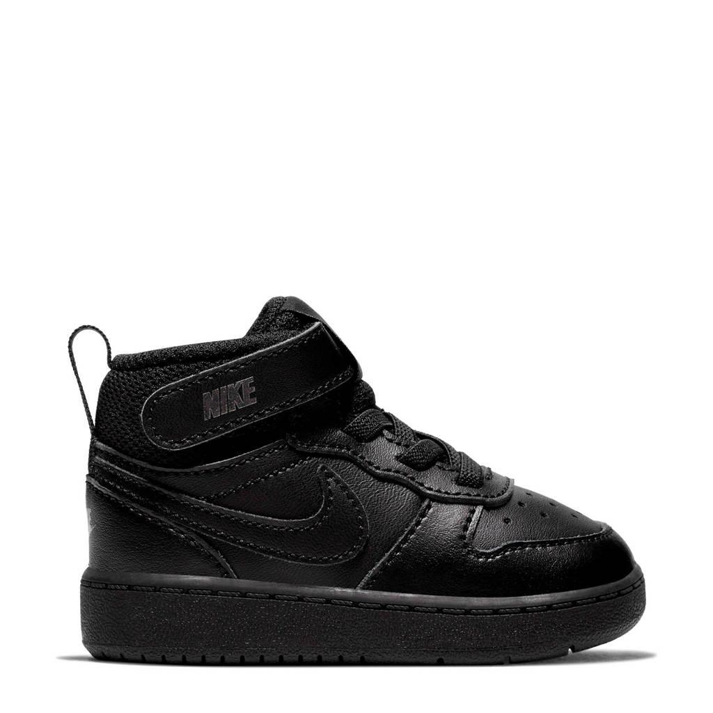 Nike COURT BOROUGH MID 2 (TDV) leren sneakers zwart, Zwart