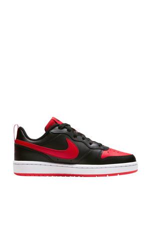 Court Borough Low 2 (GS) leren sneaker zwart/rood