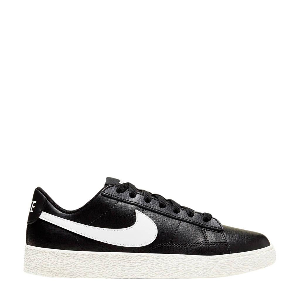 Nike Blazer Low (GS) leren sneakers zwart/wit, Zwart/wit