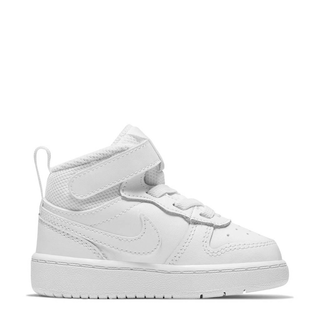 Nike COURT BOROUGH MID 2 (TDV) leren sneakers wit, Wit
