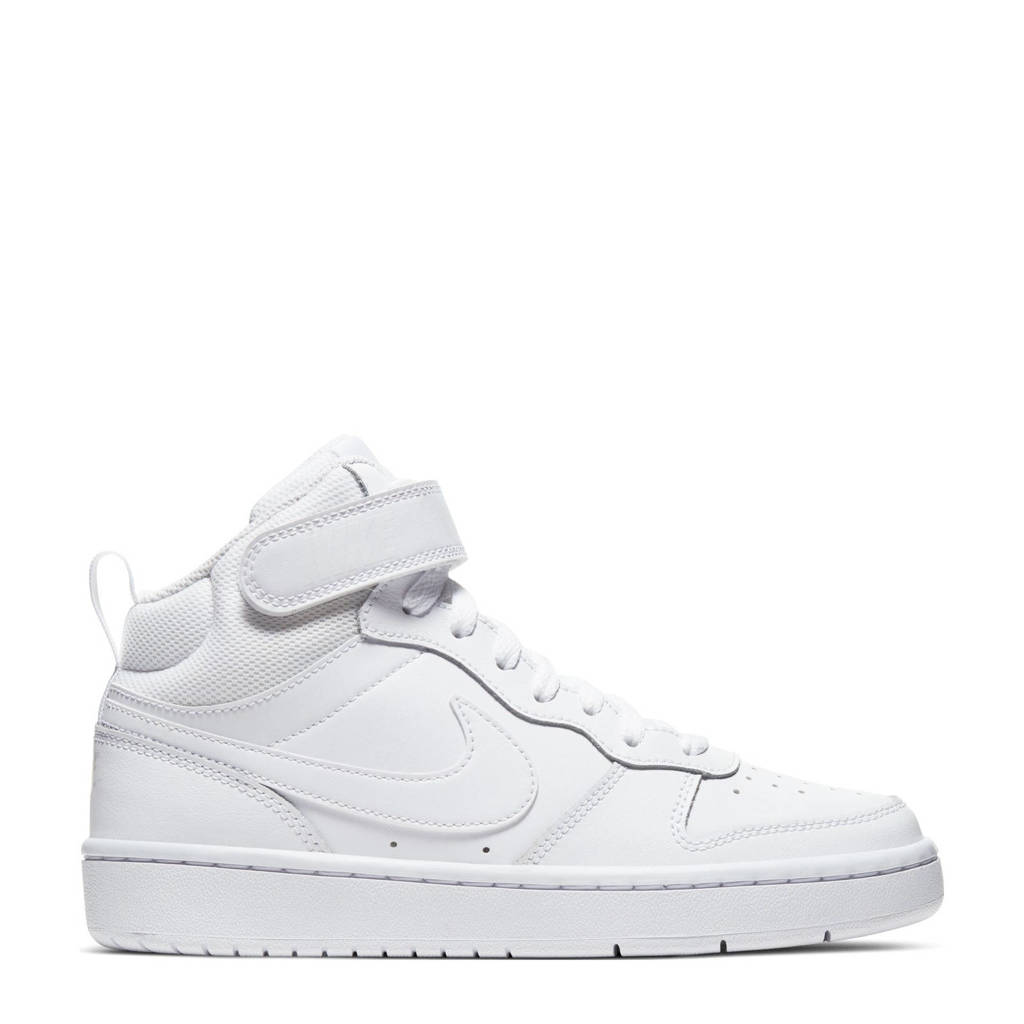 Nike Court Borough Mid 2 (GS) leren sneakers wit, Wit