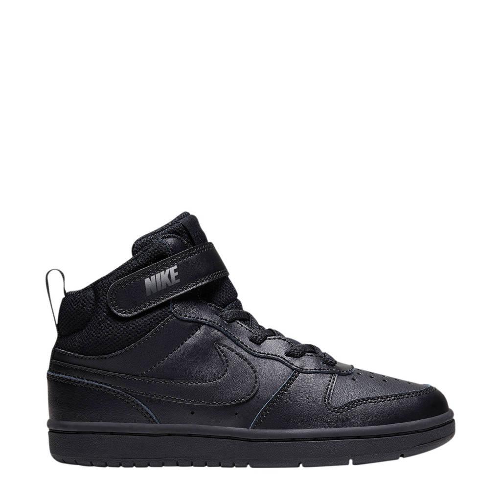 Nike COURT BOROUGH MID 2 (PSV) leren sneakers zwart, Zwart