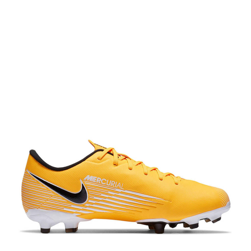 Nike Vapor 13 Academy FG/MG Jr. voetbalschoenen geel/zwart/wit, Geel/zwart/wit