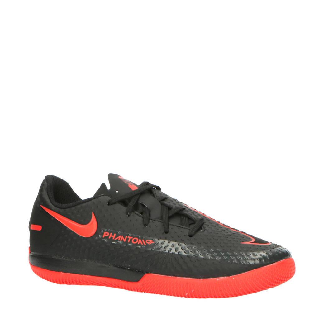 Nike Phantom GT Academy IC Jr. zaalvoetbalschoenen zwart/rood/grijs, Zwart/rood/grijs