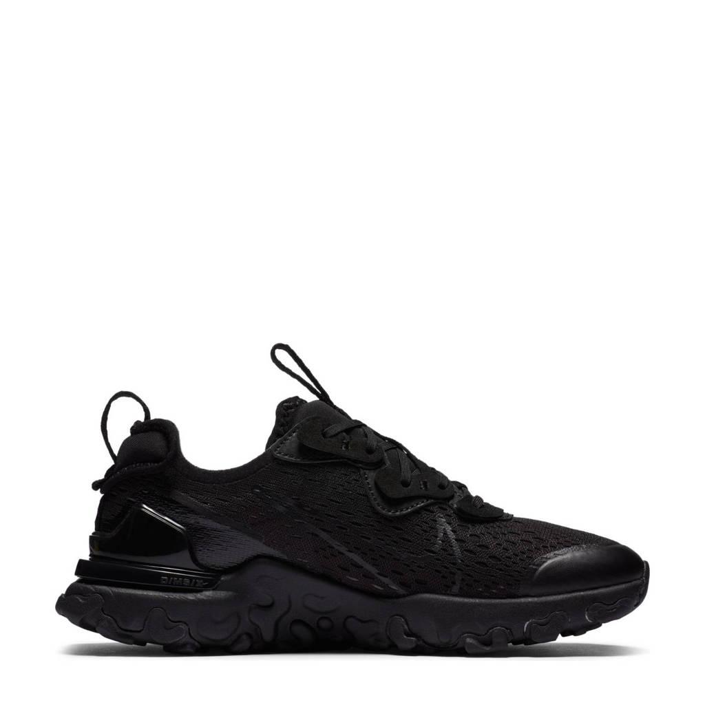 Nike React Vision  sneakers zwart/grijs, Zwart/antraciet