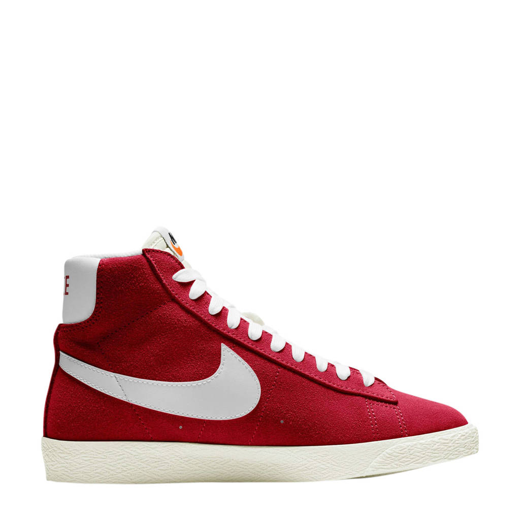 Nike Blazer Mid GS suede sneakers rood/wit, Rood/wit