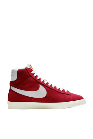 Blazer Mid GS suede sneakers rood/wit