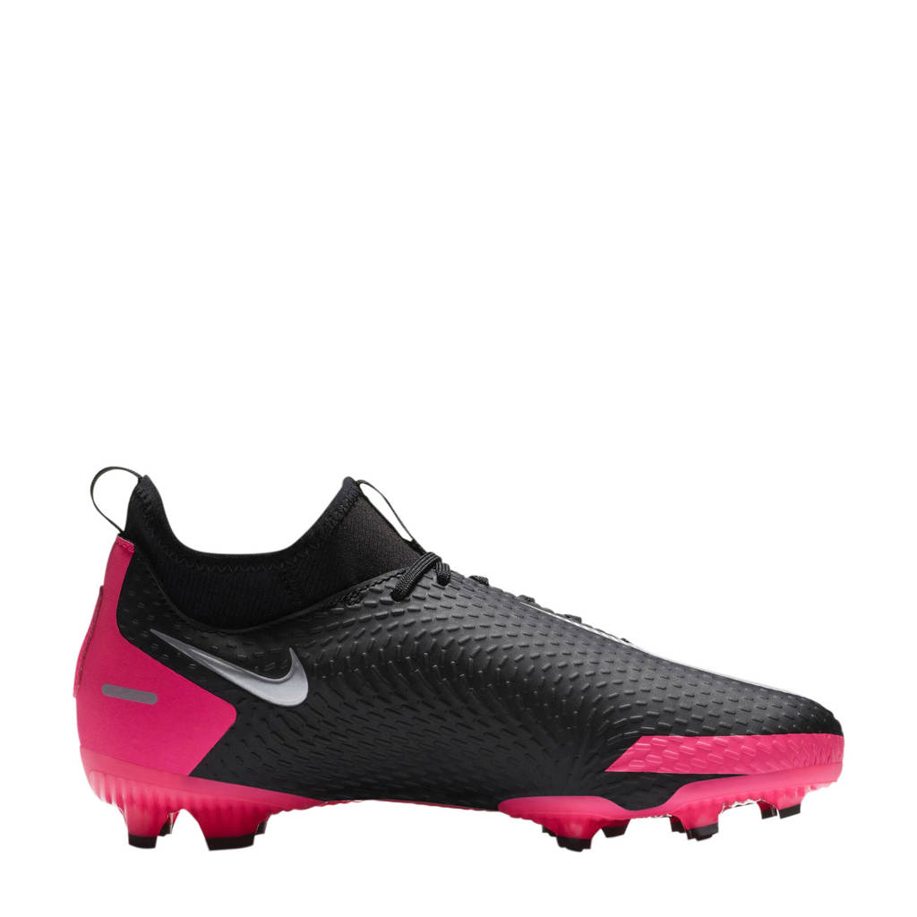 Nike Phantom GT Academy  Dynamic Fit MG Jr. voetbalschoenen zwart/fuchsia, Zwart/fuchsia