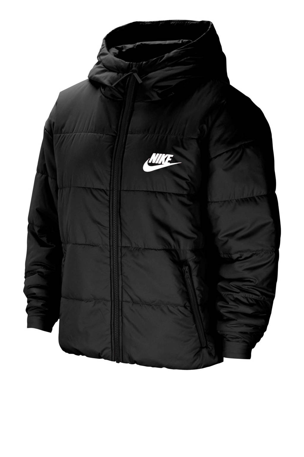 Nike gewatteerde jas zwart, Zwart
