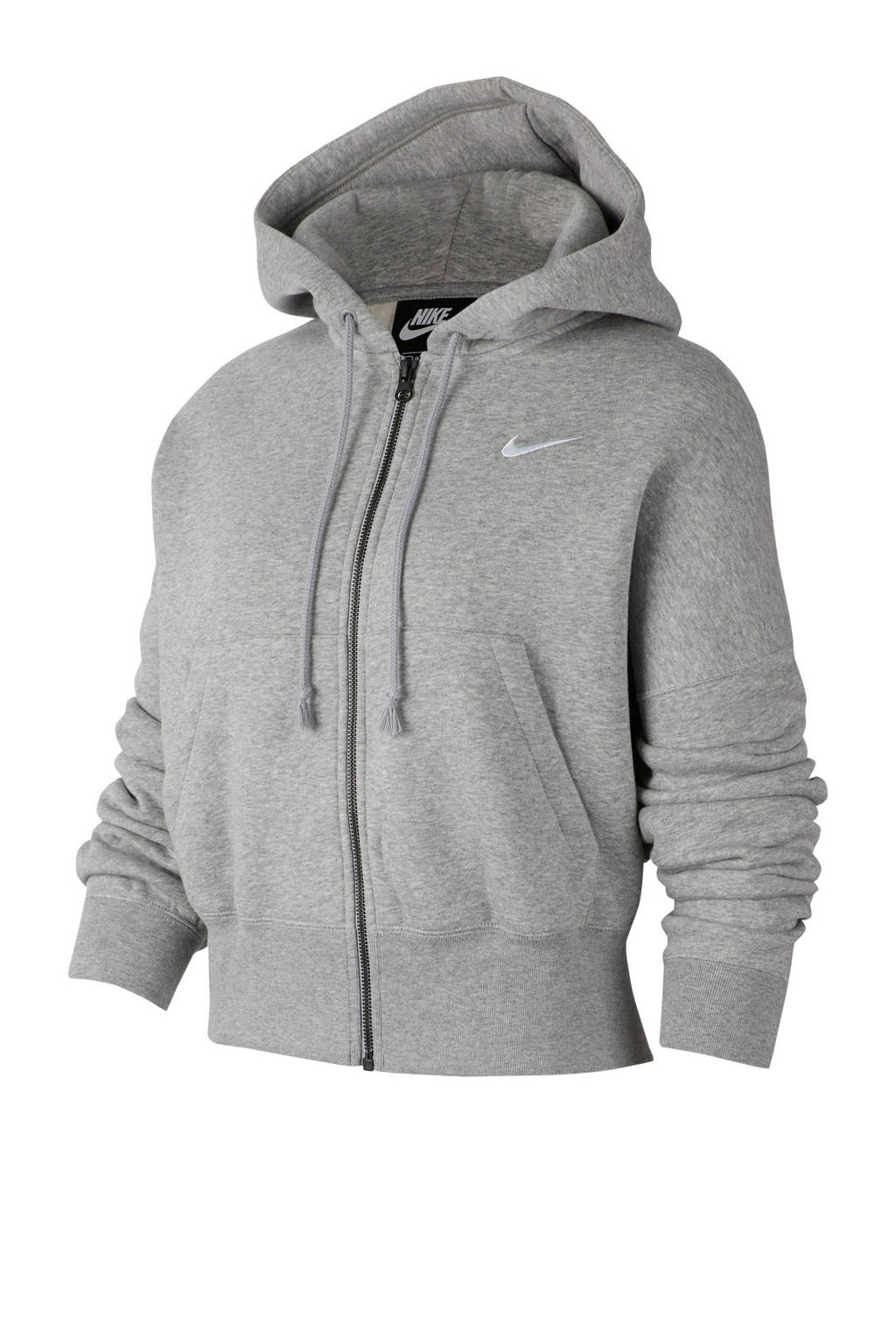 Nike vest met capuchon grijs melange, Grijs melange