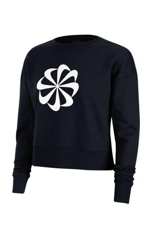 cropped sportsweater zwart