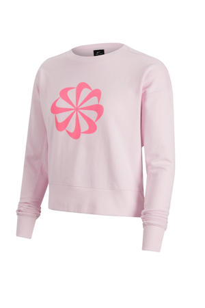 cropped sportsweater roze