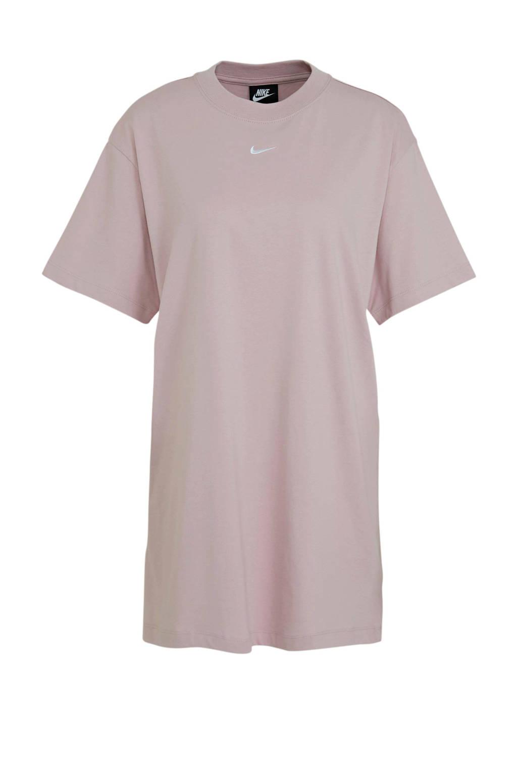 Nike T-shirt jurk lichtroze, Lichtroze
