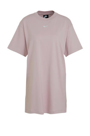 T-shirt jurk lichtroze