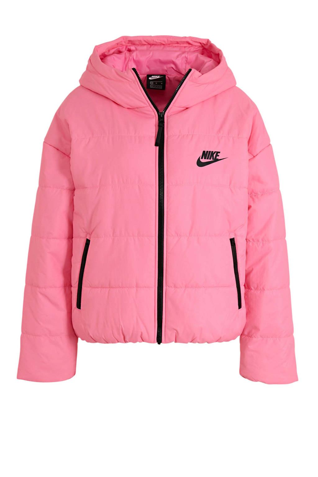 Nike gewatteerde jas roze, Roze