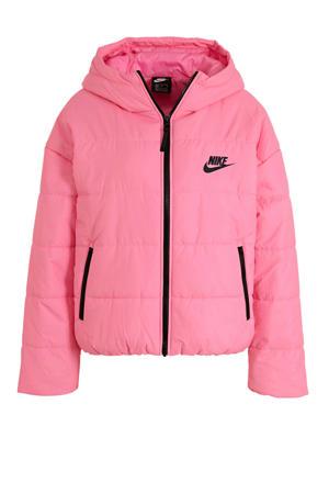 gewatteerde jas roze