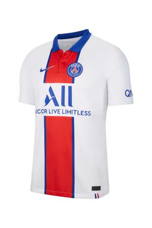 Senior Paris Saint Germain uit T-shirt wit/rood