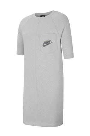 T-shirt jurk grijs melange