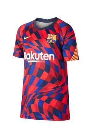 Junior FC Barcelona T-shirt donkerblauw/rood