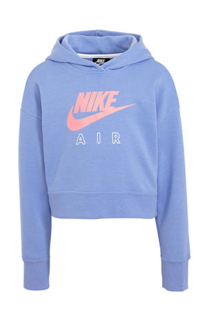 cropped hoodie blauw