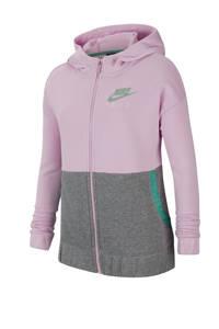 Nike vest roze/grijs melange, Roze/grijs melange/mintgroen