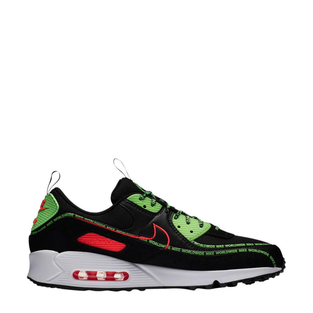 Nike Air Max 90 World Wide sneakers zwart/rood/groen, Zwart/rood/groen