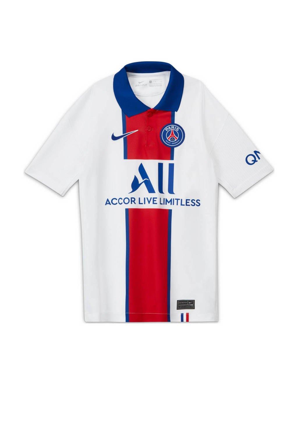 Nike Junior Paris Saint Germain voetbalshirt wit/blauw/rood, Wit/blauw/rood