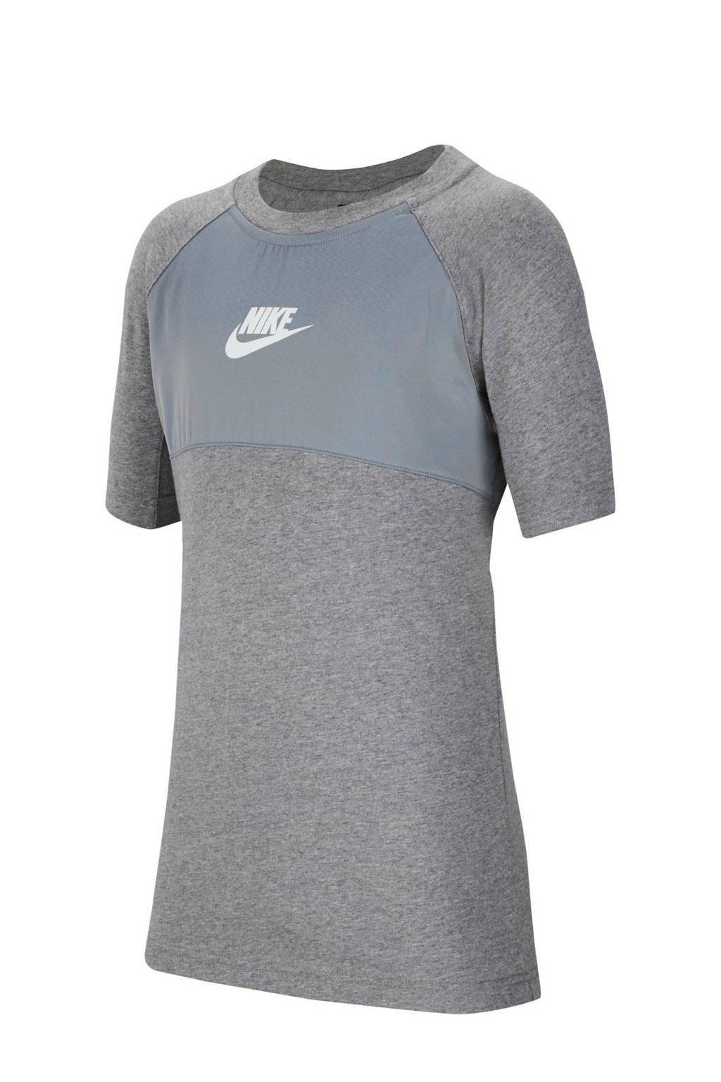 Nike   T-shirt grijs melange, Grijs melange