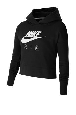 cropped hoodie zwart