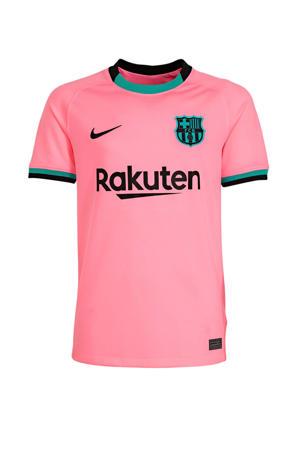 Junior FC Barcelona voetbalshirt roze/groen