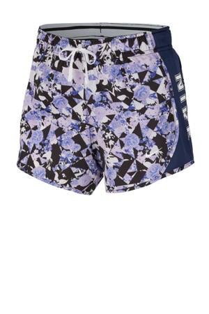 sweatshort lila/donkerblauw
