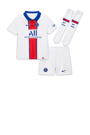 Junior Paris Saint Germain kleuter uit set wit/rood