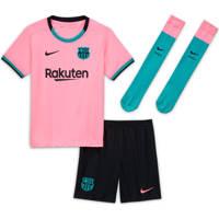 Nike Junior FC Barcelona kleuter voetbalset roze/zwart/groen, Roze/zwart/groen