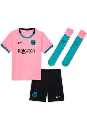 Junior FC Barcelona kleuter voetbalset roze/zwart/groen