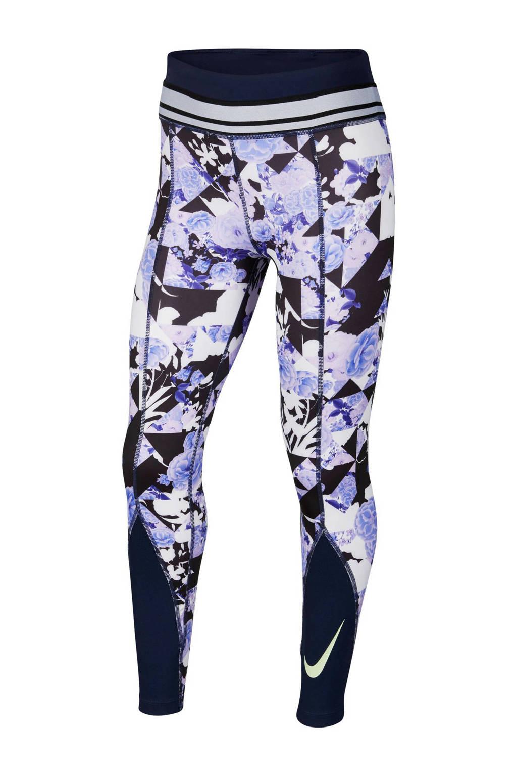 Nike legging lila/donkerblauw, Lila/donkerblauw