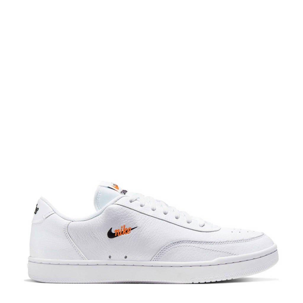 Nike Court Vintage Premium sneakers wit/zwart/oranje, Wit/zwart/oranje