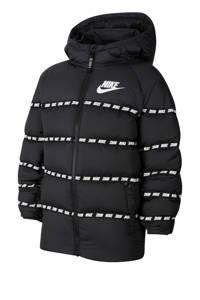 Nike gewatteerde winterjas zwart/wit, Zwart/wit