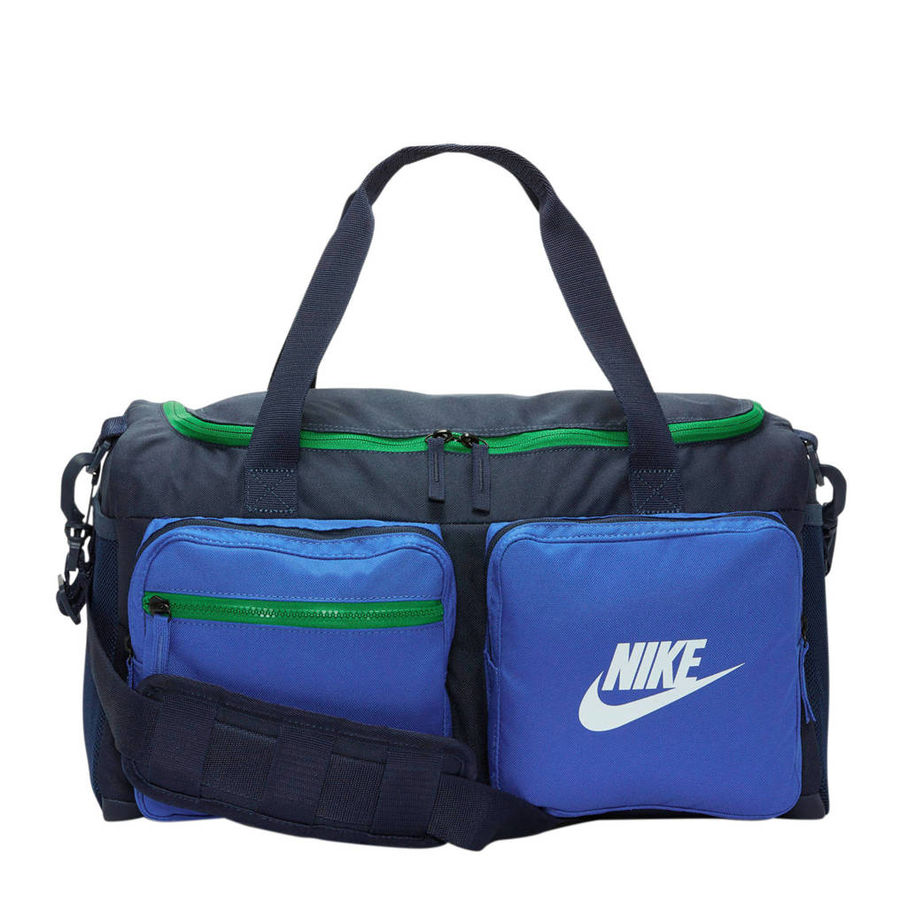 Nike   sporttas blauw/groen, Donkerblauw/blauw/groen
