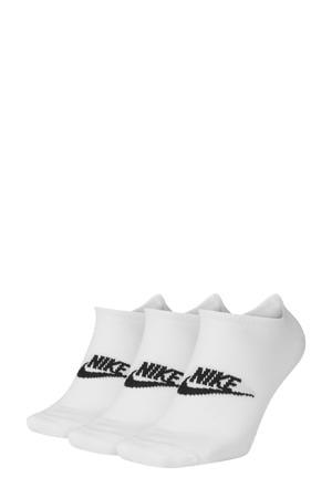 sneakers sokken wit/zwart