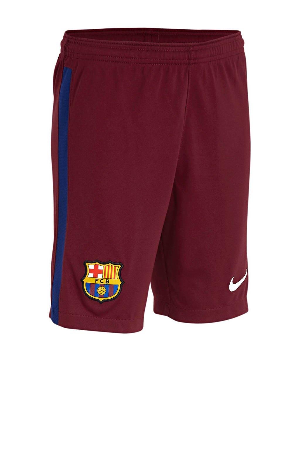 Nike Junior FC Barcelona keepers short donkerrood, Donkerrood